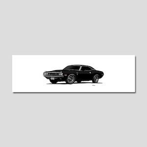 1970 Challenger Black Car Magnet 10 x 3