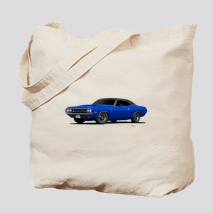 1970 Challenger Bright Blue Tote Bag