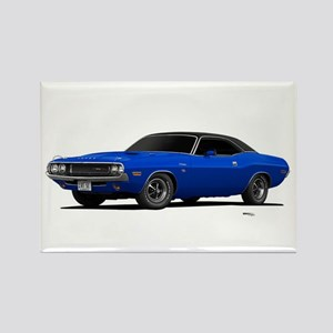 1970 Challenger Bright Blue Rectangle Magnet