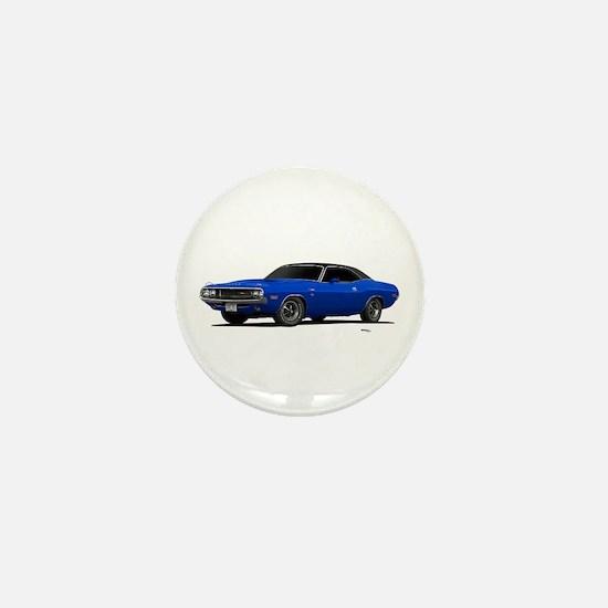 1970 Challenger Bright Blue Mini Button