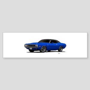 1970 Challenger Bright Blue Sticker (Bumper)