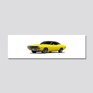 1970 Challenger Bright Yellow Car Magnet 10 x 3