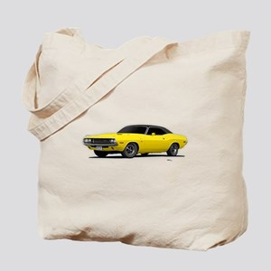 1970 Challenger Bright Yellow Tote Bag