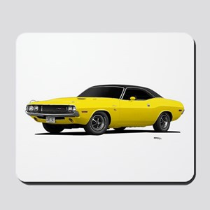 1970 Challenger Bright Yellow Mousepad