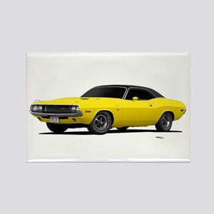 1970 Challenger Bright Yellow Rectangle Magnet