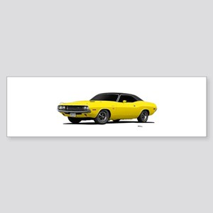 1970 Challenger Bright Yellow Sticker (Bumper)