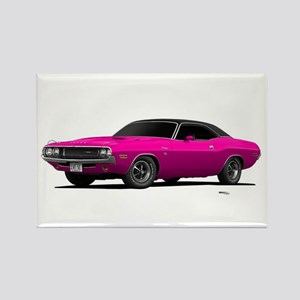 1970 Challenger Panther Pink Rectangle Magnet