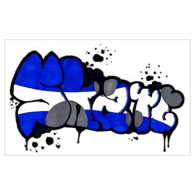 Graffiti wall art poster skate graffiti wall art poster altavistaventures Images