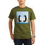 Penguins Organic Men's T-Shirt (dark)