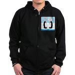 Penguins Zip Hoodie (dark)
