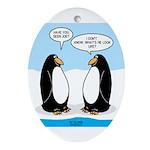 Penguins Ornament (Oval)