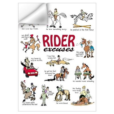 Rider Excuses Wall Art Wall Decal