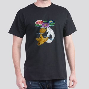 Gold and Silver Koi with Lili Dark T-Shirt