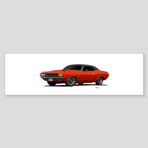 1970 Challenger Hemi Orange Sticker (Bumper)