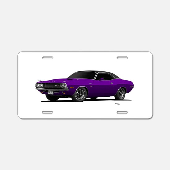 1970 Challenger Plum Crazy Aluminum License Plate