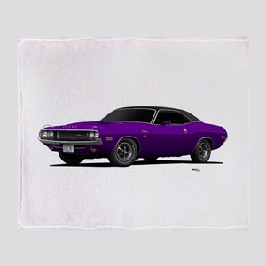 1970 Challenger Plum Crazy Throw Blanket