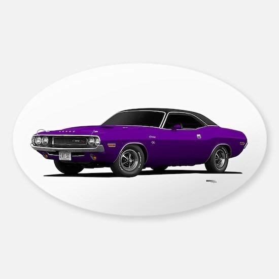 1970 Challenger Plum Crazy Sticker (Oval)