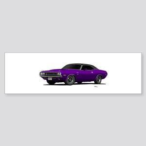 1970 Challenger Plum Crazy Sticker (Bumper)