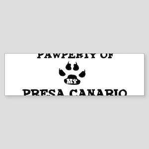Pawperty: Presa Canario Bumper Sticker
