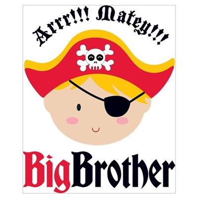 Blonde Hair Pirate Big Brother Wall Art Framed Print