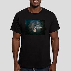 Owl at Midnight Men's Fitted T-Shirt (dark