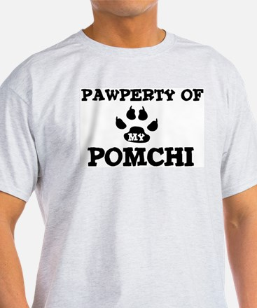 Pawperty: Pomchi Ash Grey T-Shirt