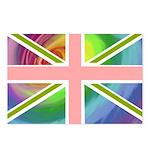 Rainbow Union Jack Flag Postcards (Package of 8)