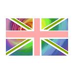 Rainbow Union Jack Flag 38.5 x 24.5 Wall Peel