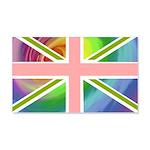 Rainbow Union Jack Flag 22x14 Wall Peel