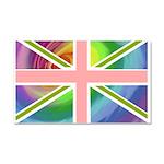 Rainbow Union Jack Flag Car Magnet 20 x 12