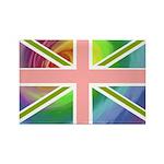 Rainbow Union Jack Flag Rectangle Magnet (100 pack