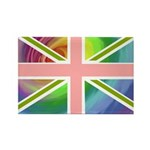 Rainbow Union Jack Flag Rectangle Magnet