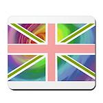 Rainbow Union Jack Flag Mousepad
