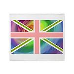 Rainbow Union Jack Flag Throw Blanket