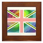 Rainbow Union Jack Flag Framed Tile