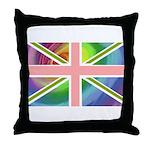 Rainbow Union Jack Flag Throw Pillow