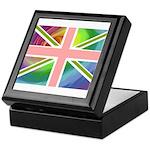 Rainbow Union Jack Flag Keepsake Box