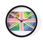 Rainbow Union Jack Flag Wall Clock