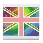 Rainbow Union Jack Flag Tile Coaster
