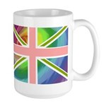 Rainbow Union Jack Flag Large Mug