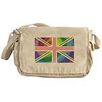 Rainbow Union Jack Flag Messenger Bag