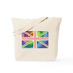 Rainbow Union Jack Flag Tote Bag