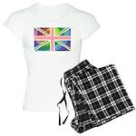 Rainbow Union Jack Flag Women's Light Pajamas