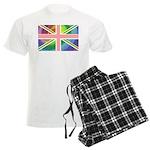 Rainbow Union Jack Flag Men's Light Pajamas