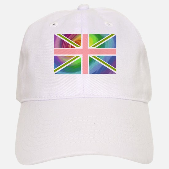 Rainbow Union Jack Flag Baseball Baseball Cap