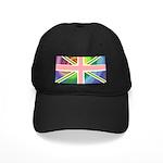 Rainbow Union Jack Flag Black Cap