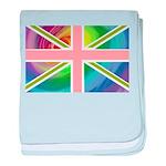 Rainbow Union Jack Flag baby blanket