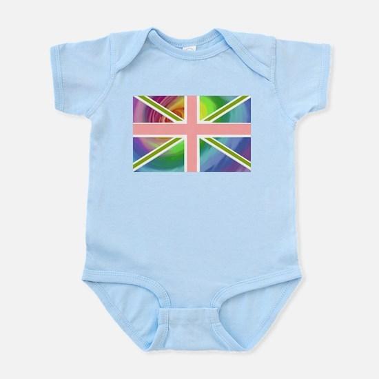 Rainbow Union Jack Flag Infant Bodysuit