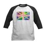 Rainbow Union Jack Flag Kids Baseball Jersey