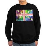 Rainbow Union Jack Flag Sweatshirt (dark)